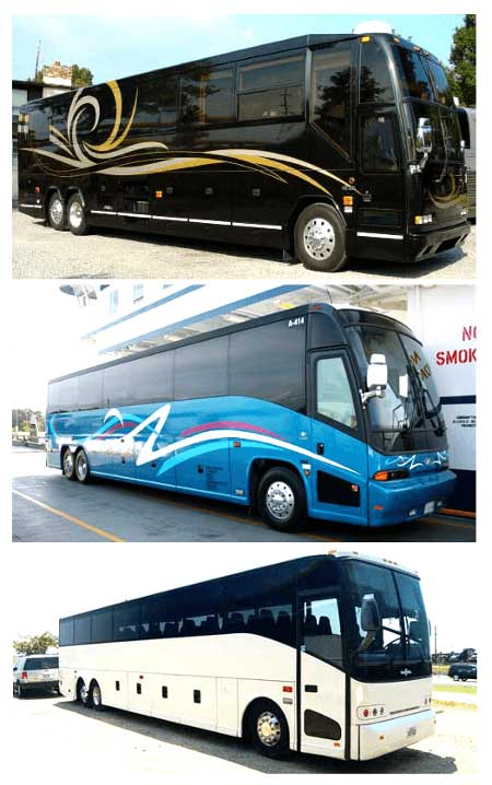 Charter bus aldine tx motor coach mini bus shuttle rental for Motor city party bus