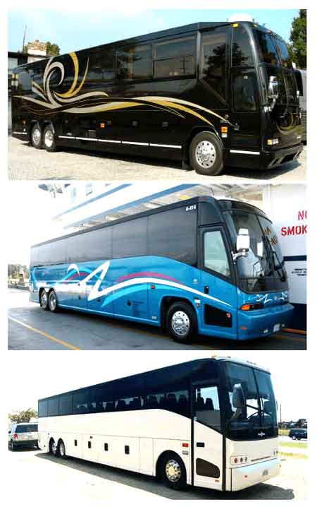 Charter Bus Pasadena TX